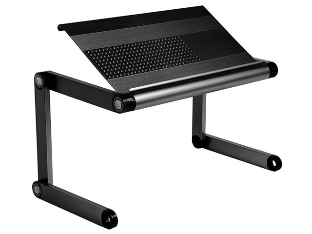 Notebook Multi function Fun Aluminium Laptop Desk Black, USB Hub 450x245 Подставка под ноутбук (ASX-X8)</td>